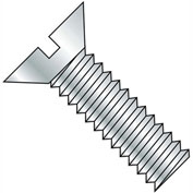 8-32X4  Slotted Flat Machine Screw Fully Threaded Zinc, Pkg of 600