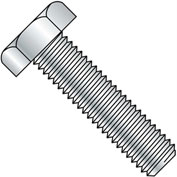 1-8X10  Hex Tap Bolt A307 Fully Threaded Zinc, Pkg of 15