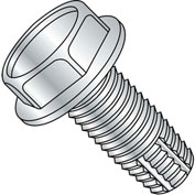 10-24X1/4  Unslotted Indented Hex Washer Thread Cutting Screw Type F Full Thrd Zinc, Pkg of 10000