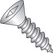 #10 x 3/4 Square Flat Self Tapping Screw Type A Fully Threaded 18-8 Stainless Steel - Pkg of 3000