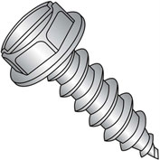 #10 x 3/4 Slot Indent Hex Washer Self Tapping Screw Type A Full Thread 18-8 Stainless - Pkg of 2000