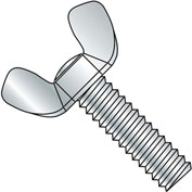 10-24X3/4  Light Series Cold Forged Wing Screw Full Thread Type A Zinc, Pkg of 200