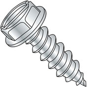 #10 x 1 Slotted Indented Hex Washer Self Tapping Screw Type AB Full Thread Zinc Bake - Pkg of 4000