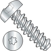 #10 x 1 #8HD Six Lobe Pan High Low Screw Fully Threaded Zinc Bake - Pkg of 4000