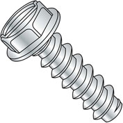 #10 x 1-1/4 Slotted Ind. Hex Washer Self Tapping Screw - Type B full thread - Zinc - Pkg of 3000