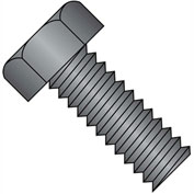 10-24X2  Unslotted Indented Hex Head Machine Screw Fully Threaded Black Oxide, Pkg of 1500
