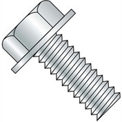 10-24X3  Unslotted Indented Hex Washer Head Machine Screw Fully Threaded Zinc, Pkg of 1000