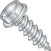 #10 x 4 Unslotted Indented Hex Washer Self Tapping Screw Type A Fully Threaded Zinc - Pkg of 500