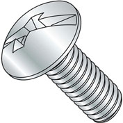 10-24X4  Combination (Phil/Slot) Full Contour Truss Head Machine Screw Full Thread Zinc, Pkg of 500