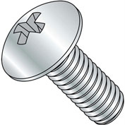 10-24X6  Phillips Truss Full Contour Machine Screw Fully Threaded Zinc, Pkg of 400