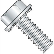 10-32X1/4  Unslotted Hex Washer External Sems Machine Screw Fully Threaded Zinc, Pkg of 9000