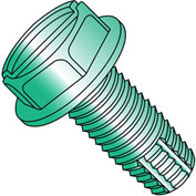10-32 x 1/4 Slotted Ind Hex Washer Thread Cutting Screw - Full Thread - Zinc - Pkg of 10000