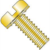 10-32X3/8  Slotted Pan Internal Sems Machine Screw Full Thread Zinc Bake and Yellow, Pkg of 5000