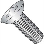 10-32X7/16  Phil Flat Undercut Thread Cutting Screw Type F Full Thread 18 8 Stainless Steel,4000 pcs