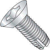 10-32 x 1/2 Phillips Flat Undercut Thread Cutting Screw - Full Thread - Zinc - Pkg of 10000