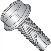 10-32X1/2  Unslot Ind Hex Washer Thread Cutting Screw Type 23 Full Thread 18 8 Stainless St,3500 pcs