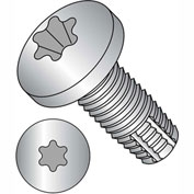 10-32X3/4  Six Lobe Pan Thread Cutting Screw Type F Full Thrd 18 8 Stainless Steel, Pkg of 3000