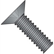 10-32X3/4  Phillips Flat 100 Degree Machine Screw Full Thrd 18 8 Stainless Steel Black, Pkg of 1000