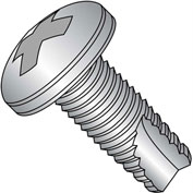 12-24X3/8  Phillips Pan Thread Cutting Screw Type 23 Full Thrd 18 8 Stainless Steel, Pkg of 4000