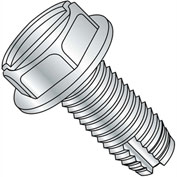 12-24X1/2  Slotted Indented Hex Washer Thread Cutting Screw Type 1 Full Thrd Zinc, Pkg of 5000