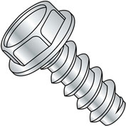 #12 x 1/2 Unslotted Indented Hex Washer Self Tapping Screw Type B FT Zinc Bake - Pkg of 5000