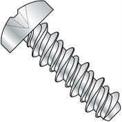#12 x 1 #10HD Phillips Pan High Low Screw Fully Threaded Zinc Bake - Pkg of 4000