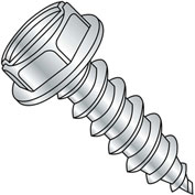 #12 x 1-1/2 Slotted Indented Hex Washer Self Tapping Screw Type A FT Zinc Bake - Pkg of 2000