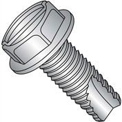 1/4-20X1/2  Slotted Indented Hexwasher Thrd Cutting Screw Type23 Fully Thrd 18 8 Stainless,1000 pcs