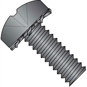 1/4-20X1/2  Phillips Pan External Sems Machine Screw Fully Threaded Black Zinc Bake, Pkg of 3000