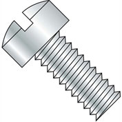 1/4-20X1/2  Slotted Fillister Head Machine Screw Fully Threaded Zinc, Pkg of 3000