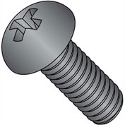1/4-20X3/4  Phillips Round Machine Screw Fully Threaded Black Oxide, Pkg of 3000
