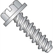 #14 x 1 Slotted Indented Hex Washer High Low Fully Threaded 18-8 Stainless Steel - Pkg of 1250