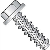 #14 x 1 Unslotted Indented Hex Washer High Low Screw Full Thread 18-8 Stainless Steel - Pkg of 1000