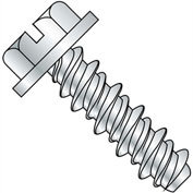 #14 x 1-1/4 Slotted Indented Hex Washer High Low Fully Threaded Zinc Bake - Pkg of 2000