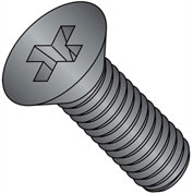 1/4-20X1 1/2  Phillips Flat Machine Screw Full Thrd 18 8 Stainless Steel Black Oxide, Pkg of 1000