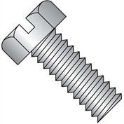 1/4-20X1 1/2  Slotted Indented Hex Head Machine Screw Full Thrd 18 8 Stainless Steel, Pkg of 1000
