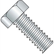1/4-20X2  Unslotted Indented Hex Head Machine Screw Fully Threaded Zinc, Pkg of 1000