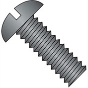 1/4-20X2  Slotted Round Machine Screw Fully Threaded Black Zinc, Pkg of 1000