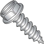 #14 x 4 Slot Indented Hex Wash Self Tapping Screw Type AB FT 18-8 Stainless Ste - Pkg of 150
