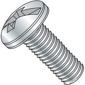 1/4-20X4  Combination (Phil/Slot) Pan Head Machine Screw Fully Threaded Zinc, Pkg of 400