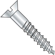 #14 x 6 Slotted Flat Full Body Wood Screw Zinc - Pkg of 200