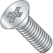 1/4-28X1 1/2  Phillips Flat Machine Screw Fully Threaded Zinc, Pkg of 1000