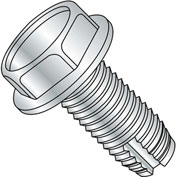 5/16-18X3/8  Unslotted Indented Hex Washer Thread Cutting Screw Type 1 Full Thrd Zinc, Pkg of 2000