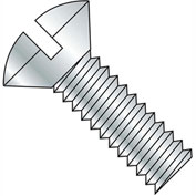 5/16-18X2 1/2  Slotted Oval Machine Screw Fully Threaded Zinc, Pkg of 800