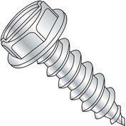 5/16X3  Slotted Indented Hexwasher 7/16 A/F Self Tap Screw Type A Full Thread Zinc Bake, Pkg of 200
