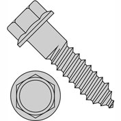 3/8X4  Indented Hex Flange Lag Screw Grade 2 Hot Dip Galvanized, Pkg of 200