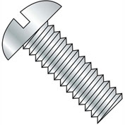 1/2-13X6  Slotted Round Machine Screw Fully Threaded Zinc, Pkg of 100