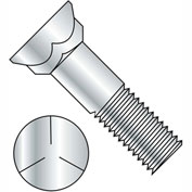 3/4-10X3  Grade 5 Plow Bolt With Number 3 Head Zinc, Pkg of 100