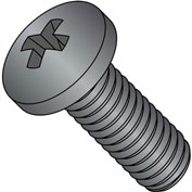 M6-1.0X16  Din 7985 A Metric Phillips Pan Machine Screw Black Oxide Oiled Dry To Touch, Pkg of 700