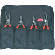 KNIPEX® 00 19 57 4 Pc Precision Circlip Snap-Ring Pliers Set In Tool Roll